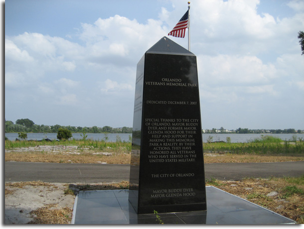 Orlando Memorial Park Marker